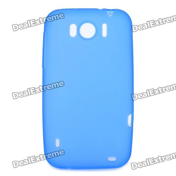 Protective Soft PVC Back Case for HTC Sensation XL X315e G21 - Blue