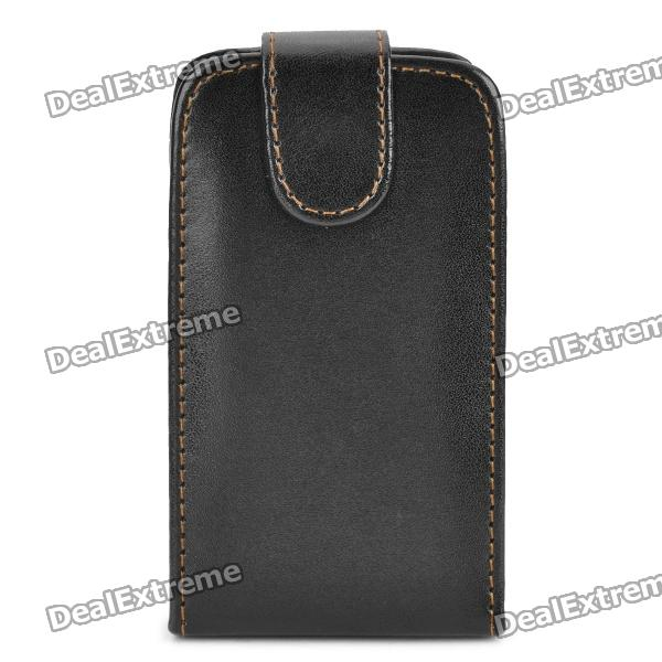 Protective Leather Case Pouch for Samsung Galaxy Mini S5570 - Black mesh protective abs back case for samsung galaxy mini s5570 white