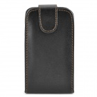Protective Leather Case Pouch for Samsung Galaxy Mini S5570 - Black