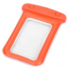 Universal Waterproof Bag with Strap for iPhone / Cell Phone - Orange