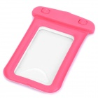 Universal Waterproof Bag with Strap for IPHONE / Cell Phone - Deep Pink