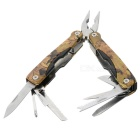 Outdoor Stainless Steel Multi-Function Pocket Foldable Pliers Toolkit - Camouflage
