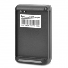 Battery Charger w/ USB Output for Samsung i9220 / GT-N7000 - Black (AC 100~240V / 2-Flat-Pin Plug)