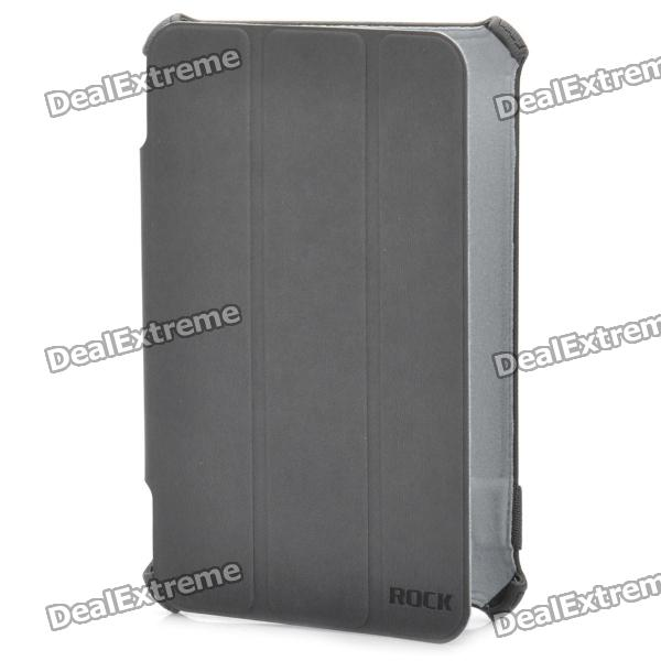 ROCK Protective PU Leather Case for Samsung P6200 - Grey