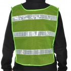 Light Reflector Stripe Safety Mesh Vest - Green