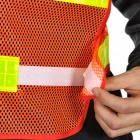 Light Reflective Strips Orange Safety Mesh Vest - Red