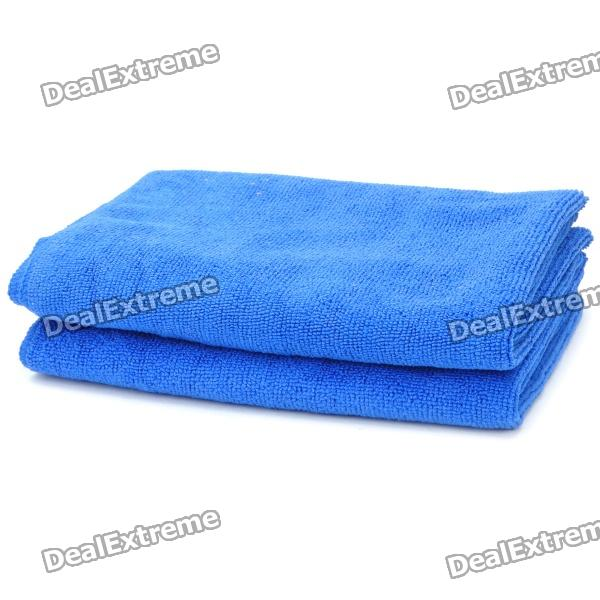 Auto Car Cleaning Towels - Blue (57 x 40cm / Pair)
