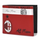 Football/Soccer Team Style Folding PU Leather Wallet - AC Milan