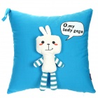 Cute Rabbit Style Decorative Throw Pillow Pillowcase Cover - Blue