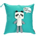 Cute Panda Style Decorative Throw Pillow Pillowcase Cover - Green