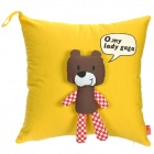 Cute Bear Style Decorative Throw Pillow Pillowcase Cover - Yellow