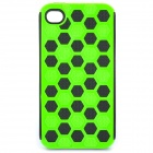 Protective Cover Case for iPhone 4 - Black + Green