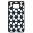 Protective Cover Case for Samsung i9100 - Black + White