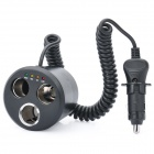 Can Multi-Socket Car Charger with Battery Analyzer (DC 12V)