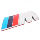 BMW M Badge Logo Style Stainless Steel Car Sticker (Silver + Red + Deep Blue + Light Blue)