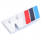 BMW M Logo Style Screw Fix Stainless Steel Badge (Silver + Red + Deep Blue + Light Blue)