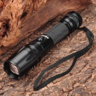 W-868 Cree XM-L T6 5-Mode 450LM White LED Zoom Convex Lens Flashlight w/ Strap (1 x 18650 / 3 x AAA)