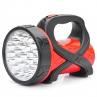 Rechargeable 3W 150-Lumen 2-Mode 25-LED White Light Spotlight Searchlight - Red + Black