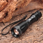 W-8033 XM-L T6 5-Mode 450LM White LED Zoom Convex Lens Flashlight w/ Strap (1 x 18650 / 3 x AAA)