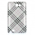 Protective PC Case Cover for Samsung i9220 - Silver Twill Grid