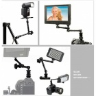 "11"" Magic Arm with Hot Shoe Mount & Camera Mount for DSLR Camera - Black"
