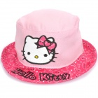 Cute Hello Kitty Style Outdoor Round Rim Sunbonnet Hat - Pink