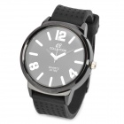 Fashion Rubber Band Quartz Wrist Watch - Black (1 x AG4 / 26.2CM)
