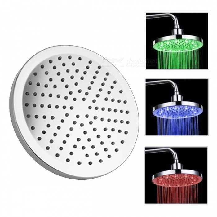 "12-LED Water Temperature Visualizer Sensor Round Shower Head (8"")"