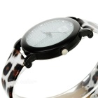 Fashion Leopard Grain Rhinestone Décoration Montre bracelet