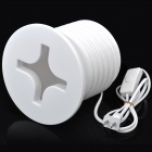 Creative Screw Style 24W 4000K 100-Lumen 1-E27 Bulb Warm White Lamp - White (AC 220V / 2-Flat-Pin)