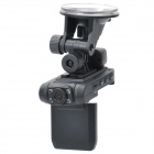"IPU D3 720P CMOS Dual Lens Car DVR Camcorder w/ 8-IR Night Vision / TF (2"" LCD)"