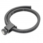 Adjustable Follow Focus Lens Gear Ring for DSLR Lens - Black