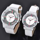 Hollow Out A501 Quartz Electronic Wristwatch for Lovers and Couples - White (Pair/Set)