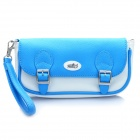 PEGA Protective PU Leather Carrying Pouch for PS Vita - Blue + White