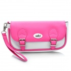 PEGA Protective PU Leather Carrying Pouch for PS Vita - Pink + White