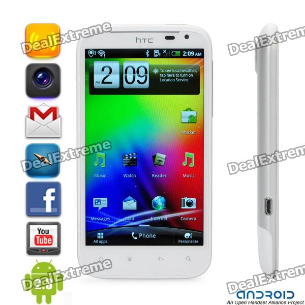 "HTC Sensation XL Android 2.3 WCDMA Smartphone w/Beats Audio, 4.7"" S-LCD Capacitive and GPS - White"