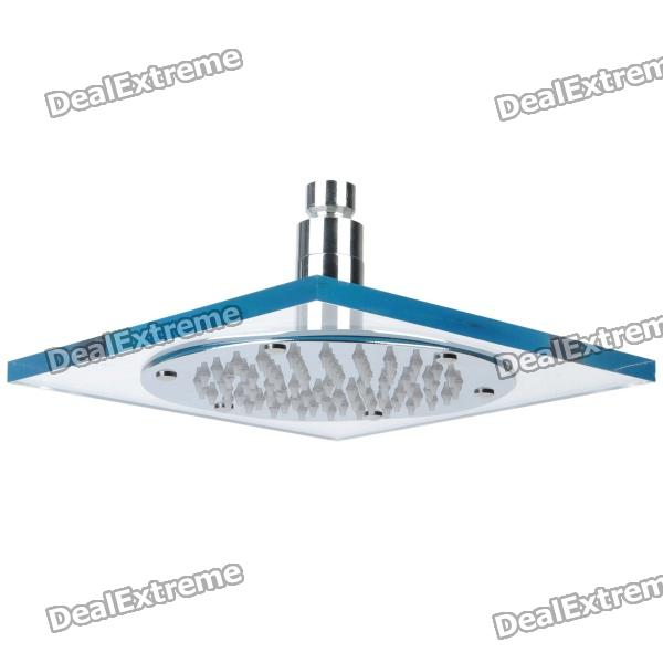 "12-LED Water Temperature Visualizer Sensor Square Shower Head (8"")"