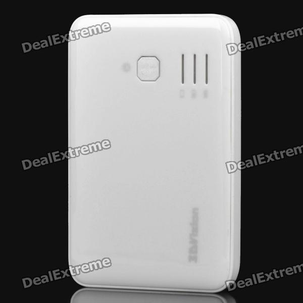 5000mAh Dual USB Externe Mobile Battery Power Charger - White (83.5cm)