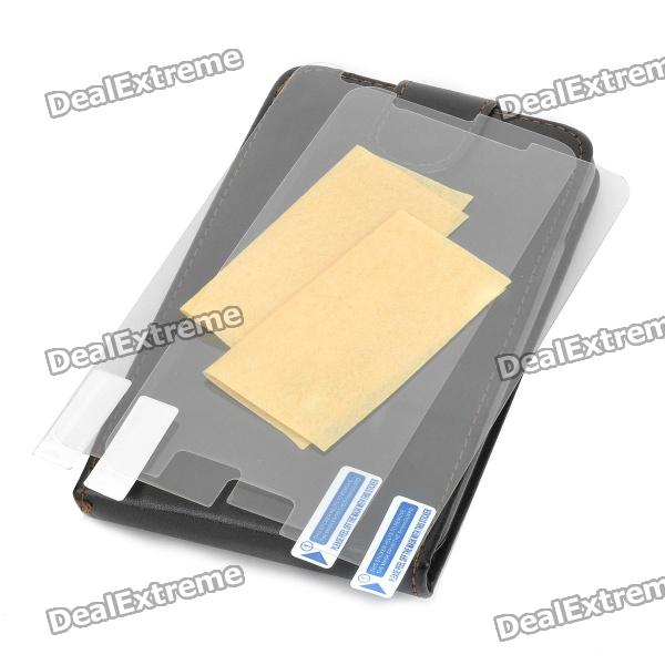 Protective Leather Case + Screen Protectors for Samsung Galaxy Note / i9220 / GT-N7000 mhl docking station for samsung galaxy note i9220 black silver