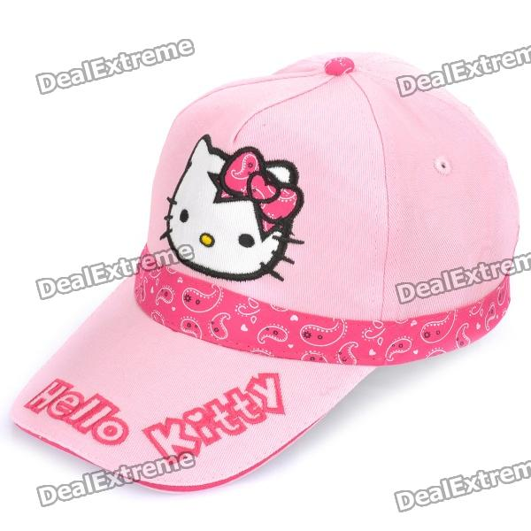 Cute Hello Kitty Style Outdoor Sunbonnet Hat - Pink