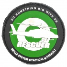 Genuine Rescuer Helicopter Image Pattern Badge Velcro - Black