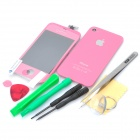 Replacement Touch Screen Digitizer LCD + Back Cover Module w/ Tools Kit for iPhone 4 - Deep Pink