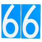 Car/Motorcycle License Plate Number Magnetic Sticker - Blue + White (Number 6/Pair)