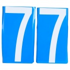 Car/Motorcycle License Plate Number Magnetic Sticker - Blue + White (Number 7/Pair)