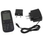 "Nokia 1010 GSM Cellphone w/1.8"" TFT LCD, Dual SIM, Dual Band, FM, MP3 Player and TF Slot - Black"