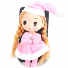 Cute Protective Case with Decorative Ddung Doll Stand Holder for iPhone 4 / 4S - Pink + Black