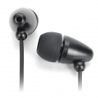 Fashion Bullet In-Ear Stereo Earphone Headset with Microphone for iPhone/iPad/iPod - Black (110cm)
