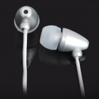 Fashion Bullet In-Ear Stereo Earphone with Microphone for iPhone/iPad/iPod - Silver (110cm)