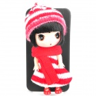 Cute Protective Case with Decorative Ddung Doll Stand Holder for iPhone 4 / 4S - Red + Black