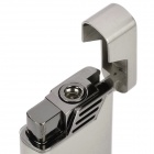 Cool Scorpion Pattern Zinc Alloy Windproof Gas Lighter - Grey